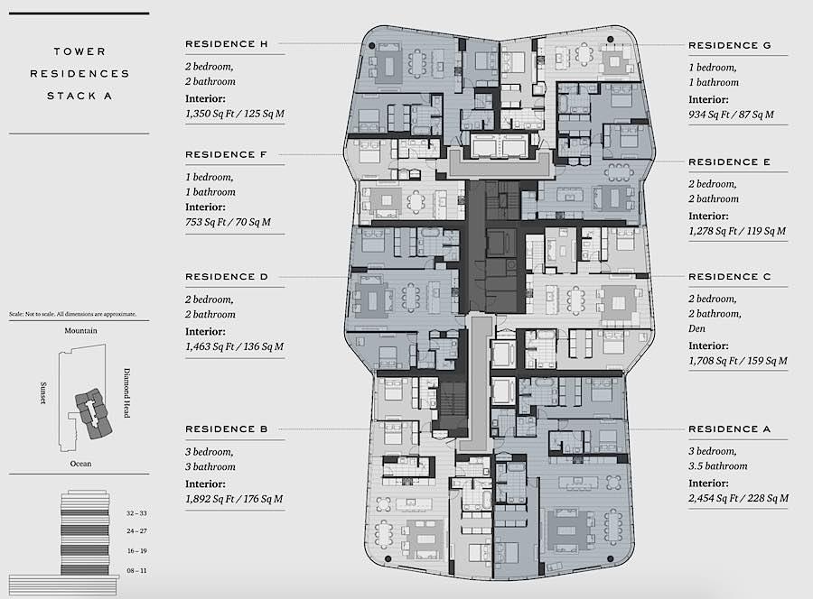 Anaha Standard Floor Plate - 8 Floor to 33 Floor