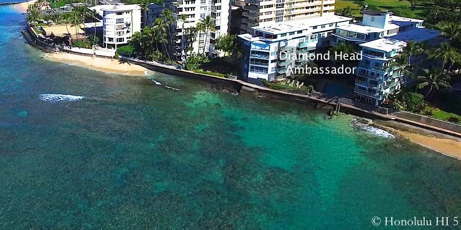 Diamond Head Ambassador Seen From Ocean
