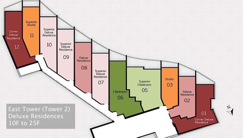 Ritz-Carlton Waikiki Floor Plans - East Tower Deluxe Residences