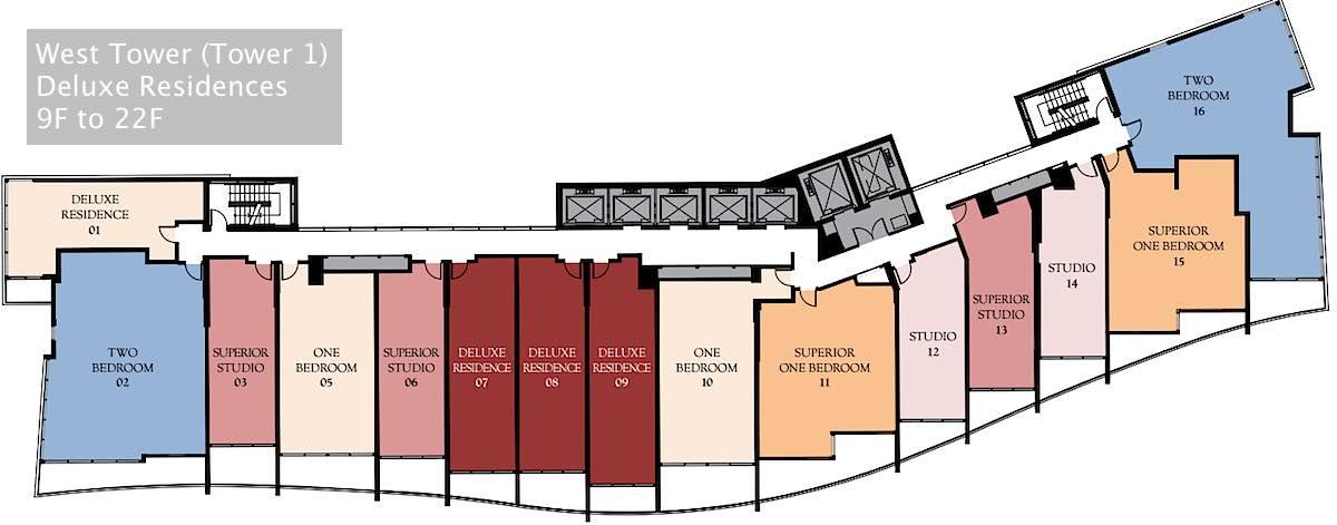 Ritz-Carlton Waikiki Floor Plan - West Tower Deluxe Residences