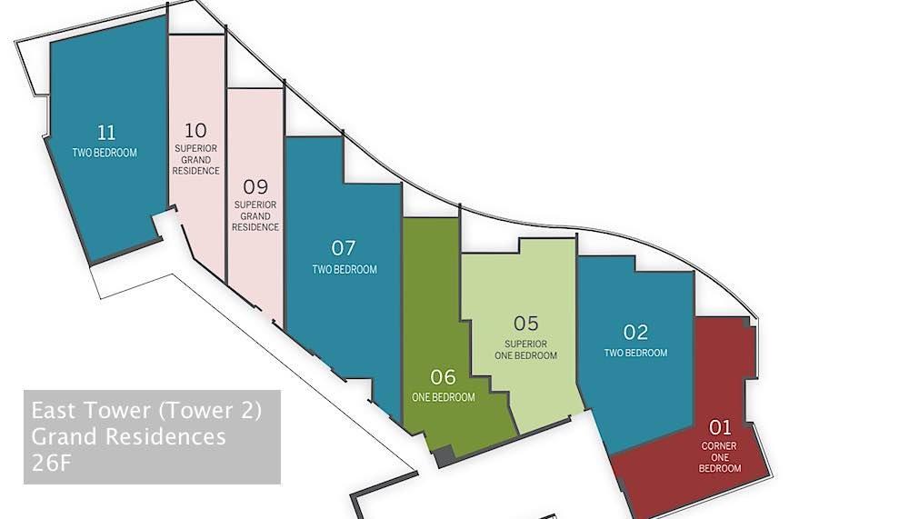 Ritz-Carlton Waikiki Floor Plans - East Tower Grand Residences Level 26