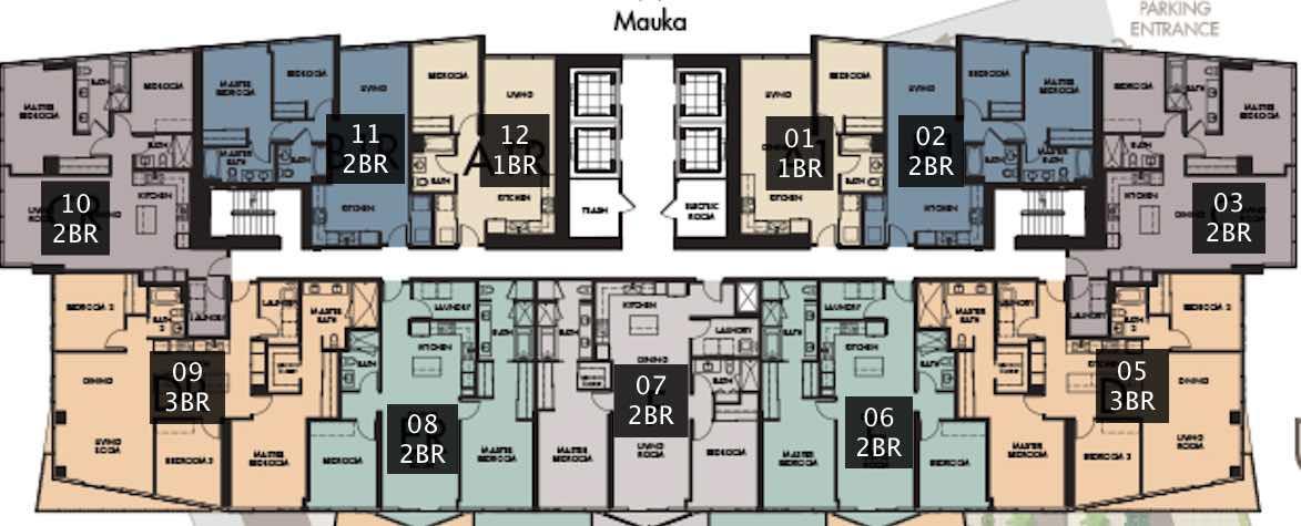 Symphony Honolulu Floor Plate - 8 Floor to 43 Floor