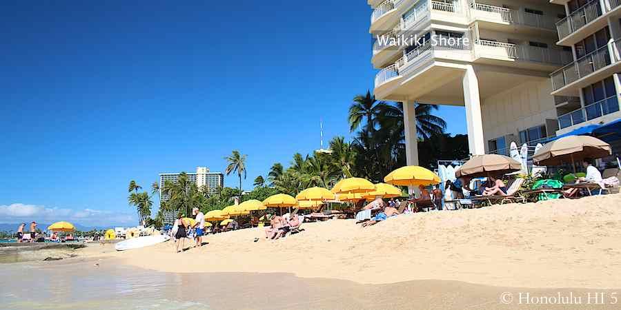 Waikiki Shore Seen From the Beach