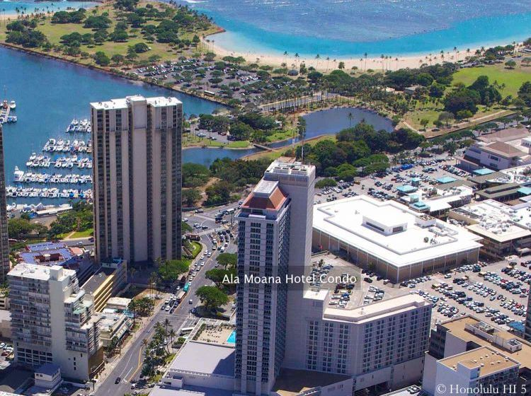 Ala Moana Hotel Condo Aerial Photo