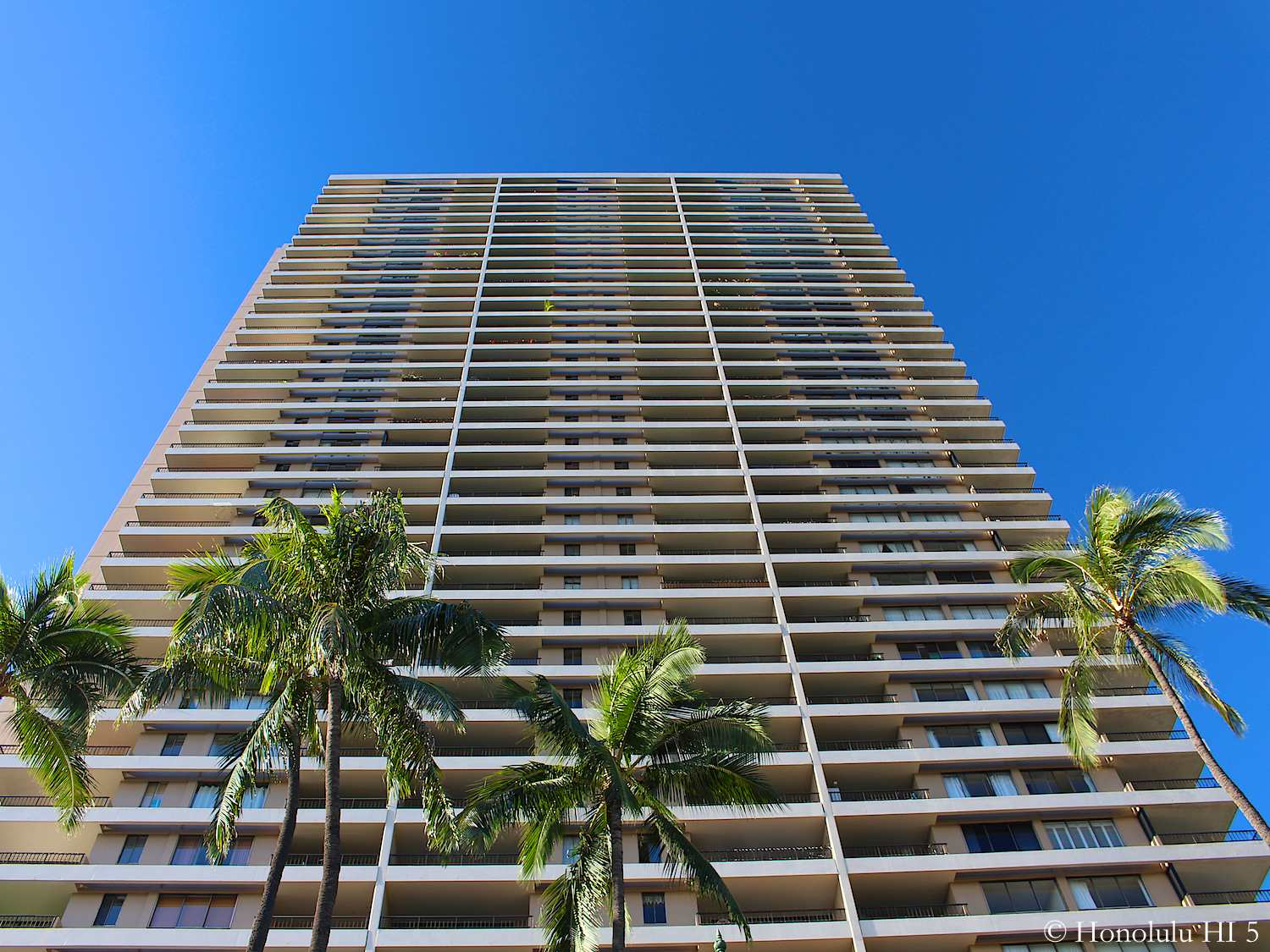 Photo of 1717 Ala Wai Condo From Bottom Up - a Tall High-rise