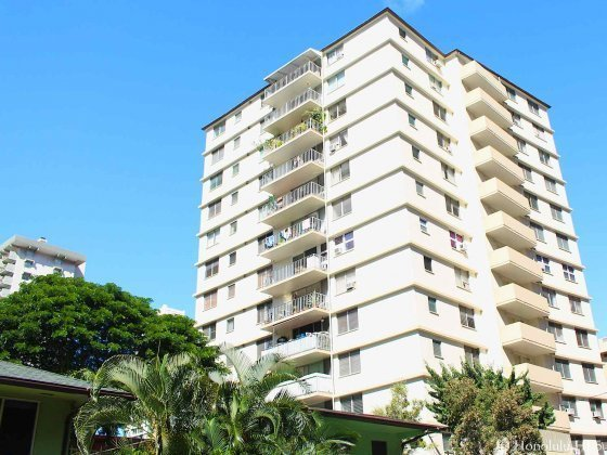Liliuokalani Plaza Condos in Waikiki - Square White Highrise