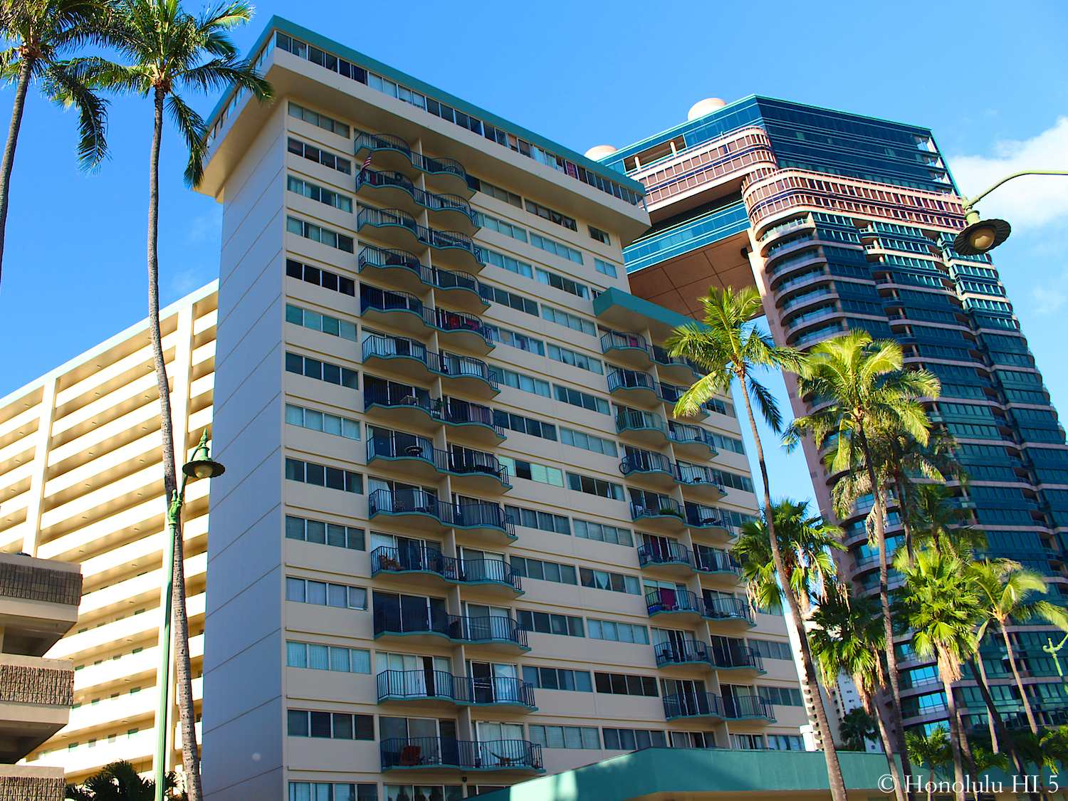 Royal Aloha Waikiki Condo with Landmark in Background