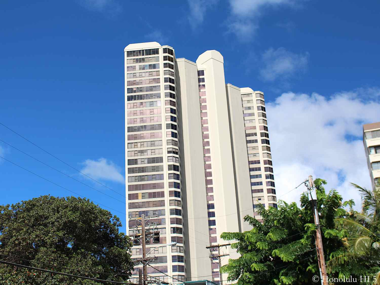 Backside of Admiral Thomas Condos in Honolulu