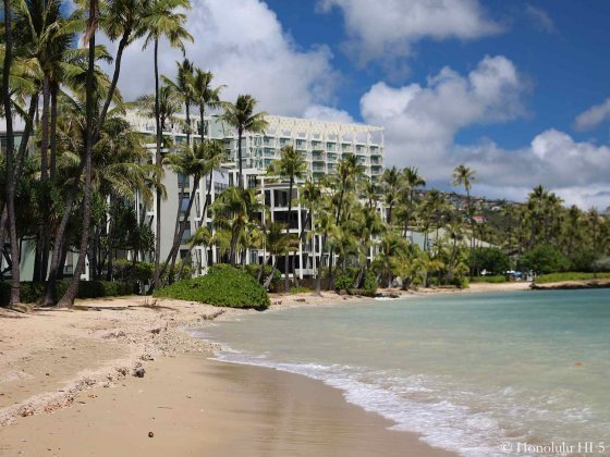 Kahala Beach Condos With White Sandy Beach in Front