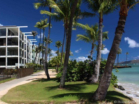 Kahala Beach Condos with Large Lanais Oceanfront