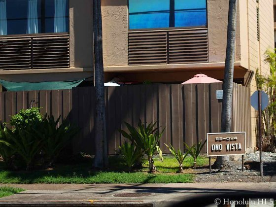 One Vista on North Shore Oahu First Floor Unit with Sign in Front