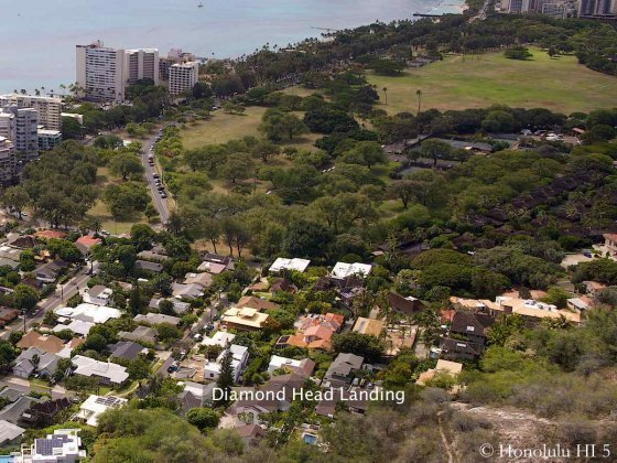 Diamond Head Landing Highlighted In This Aerial Photo