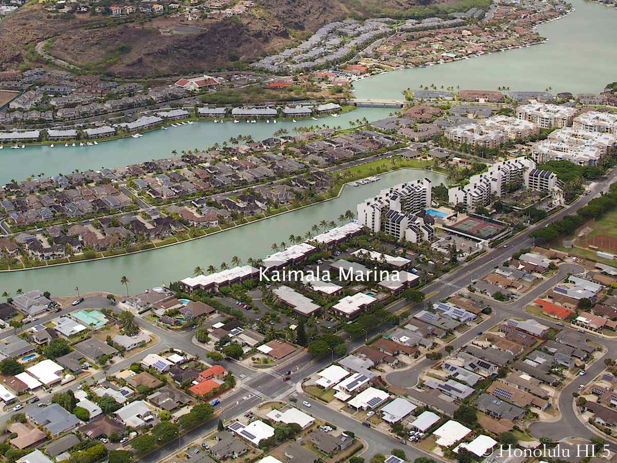 Kaimala Marina Hawaii Kai Aerial Photo