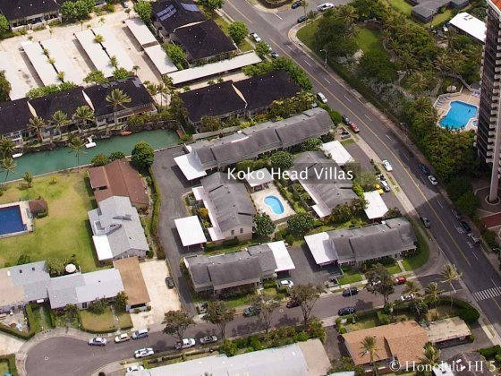 Koko Head Villas in Hawaii Kai Aerial Photo