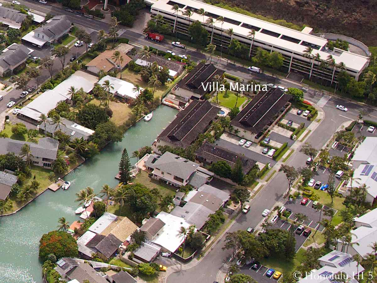 Villa Marina Hawaii Kai Aerial Photo