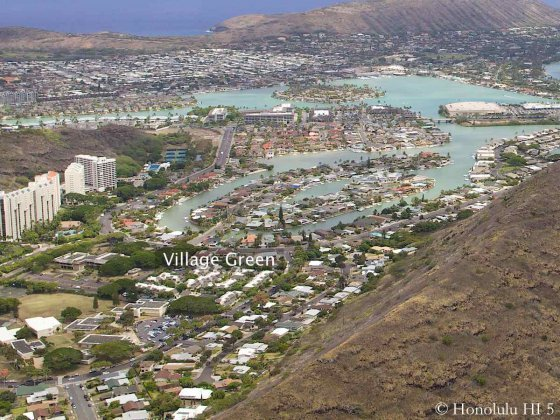 Village Green Hawaii Kai Aerial Photo