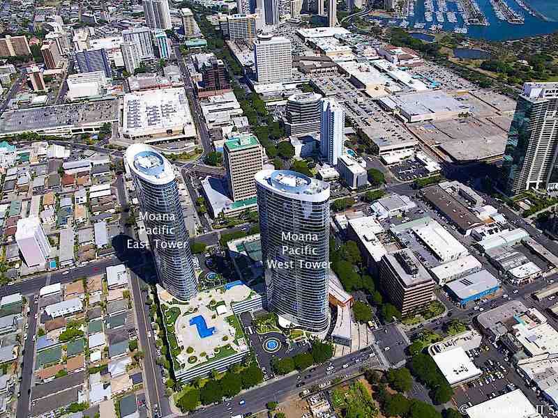 Moana Pacific Condos Aerial Photo