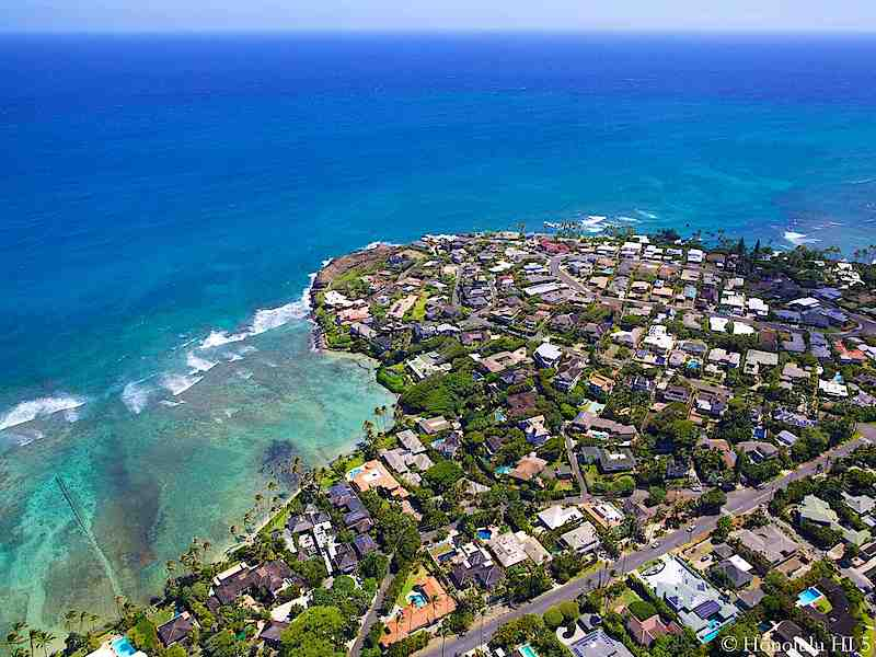 Black Point Honolulu Real Estate - Aerial Photo