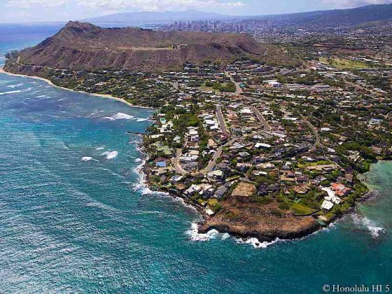 Homes in Black Point Honolulu - Aerial Photo