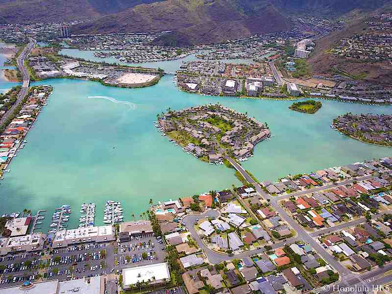 Hawaii Kai Townhomes Water Front - Aerial Photo