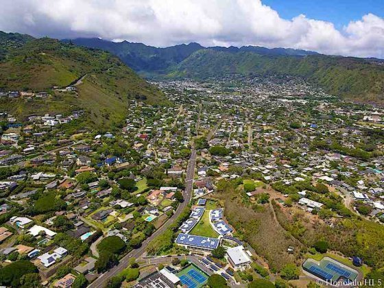Manoa Homes Aerial Photo