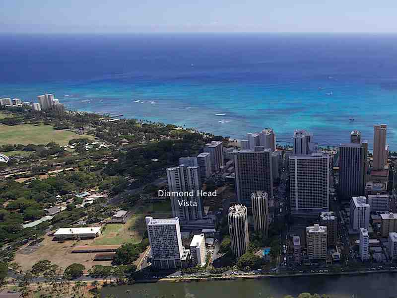 Diamond Head Vista Condo Aerial Photo