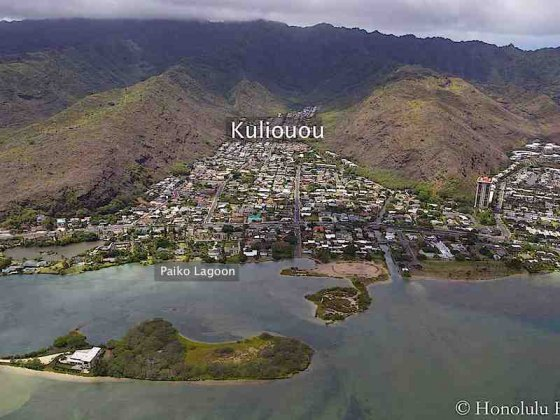 Kuliouou Homes Aerial Photo