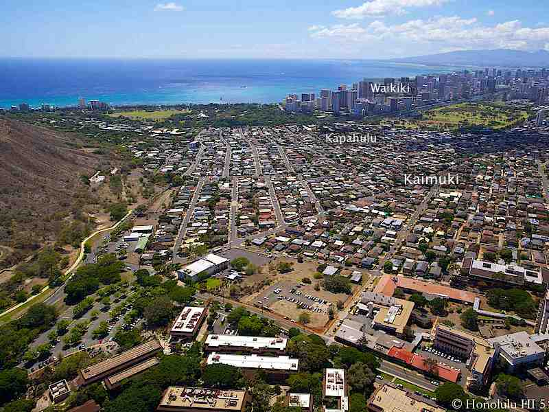 Kaimuki Homes Aerial Photo