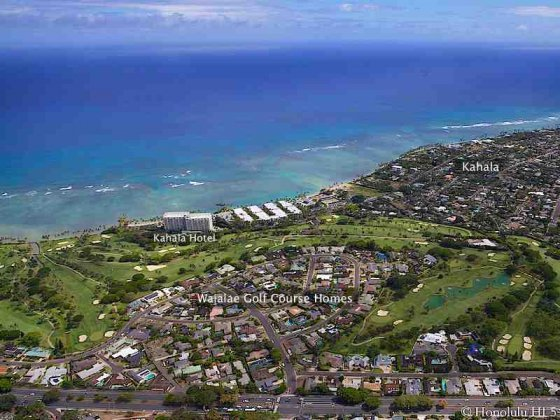 Waialae Golf Course Homes Aerial Photo