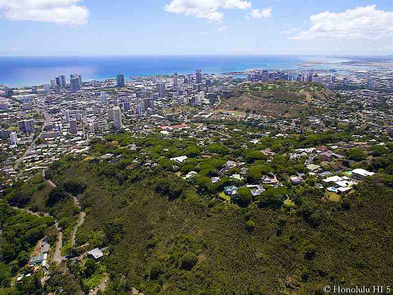 Metro Honolulu Homes - Aerial Photo Above Makiki Heights