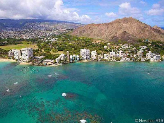 Diamond Head Region Condos - Aerial Photo