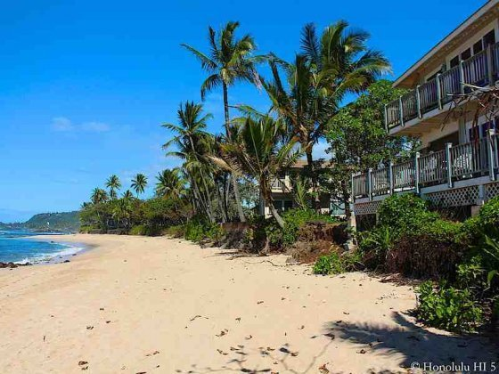 Beach Front Homes in Sunset on Oahu's North Shore