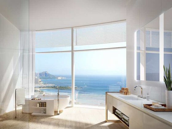 Cylinder at Gateway Towers Bathtub with Ocean Views