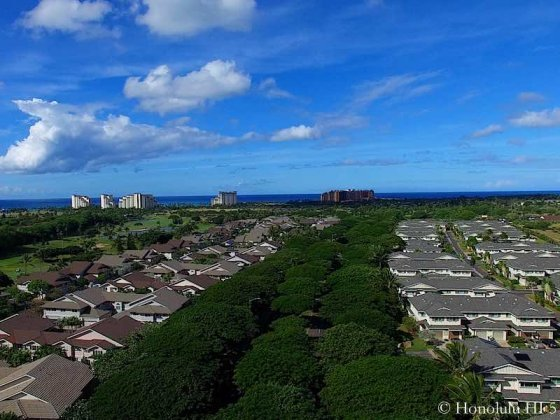Ko Olina Homes with Lush Green and Hotels in Distance