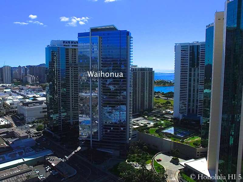 Waihonua Condo Surrounded by other High-rises in Kakaako