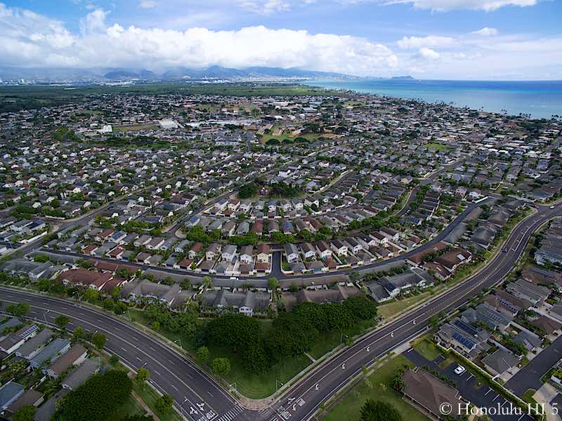 Ocean Pointe Homes in Ewa Beach - Drone Photo with Ocean in Backdrop