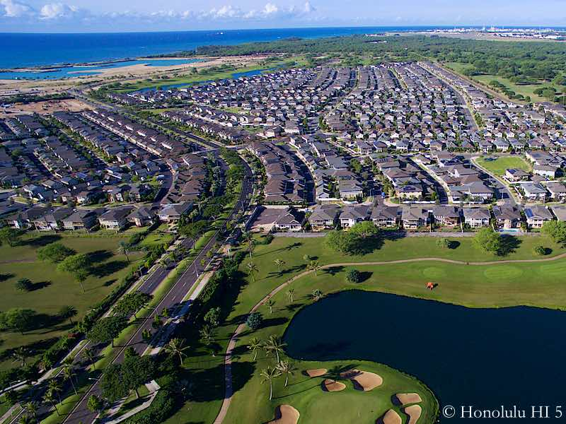 Hoakalei Homes Fronting Golf Course - Drone Photo