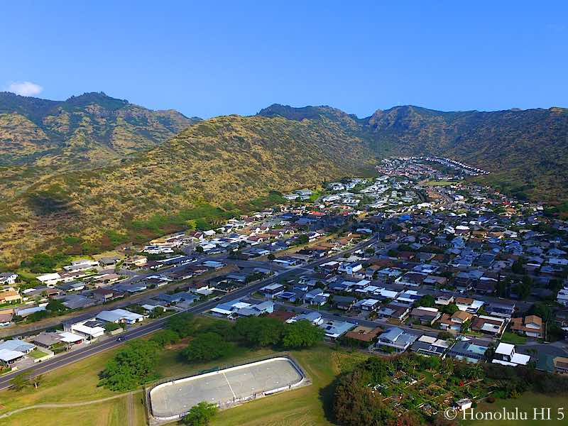 Mariners Valley Homes in Hawaii Kai - Drone Photo