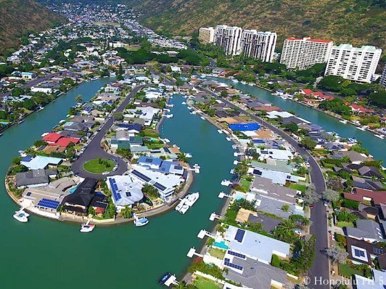 Spinnaker Isle Homes in Hawaii Kai - Drone Photo