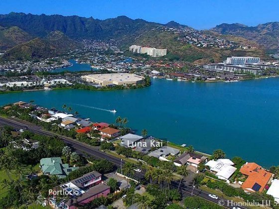 Luna Kai Marina Front Homes in Hawaii Kai - Drone Photo