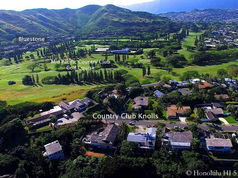 Country Club Knoll Golf Front Homes in Kailua