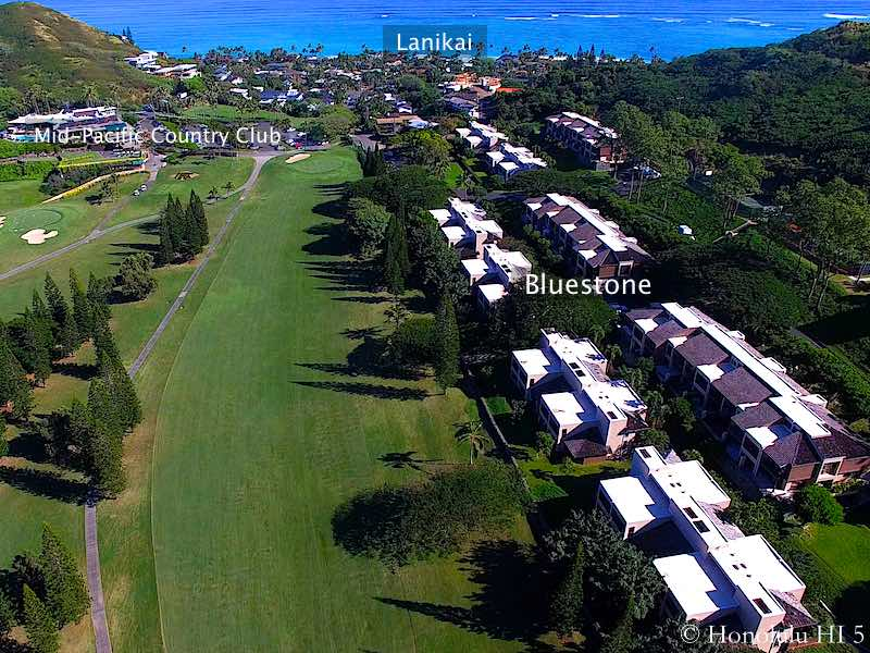 Bluestone Kailua Townhomes Fronting Golf Course - Drone Photo