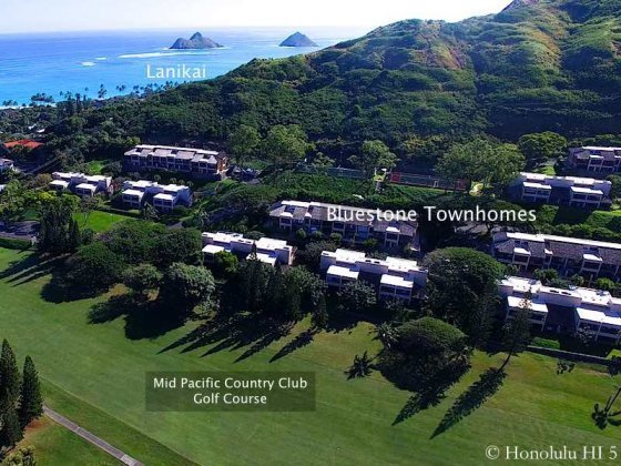 Bluestone Kailua Townhomes with Lanikai Nearby - Drone Photo