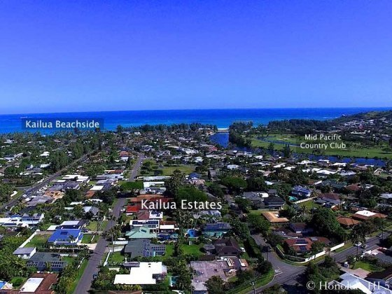 Kailua Estates Drone Photo