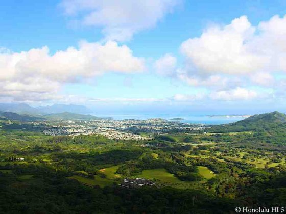 Kaneohe Seen From Pali Lookout