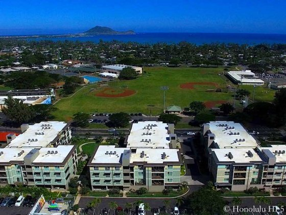 Ka Malanai at Kailua With Ocean in Distance - Aerial Photo