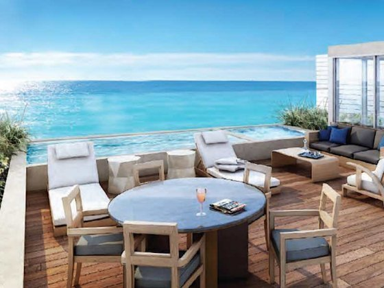 Ritz-Carlton Waikiki Penthouse Private Rooftop Terrace with Plunge Pool Rendering