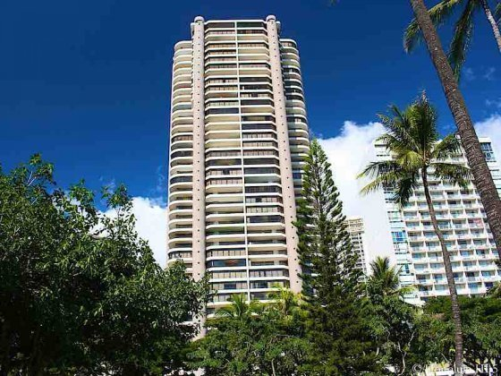 Canterbury Place Waikiki Condo Seen From Fort DeRussy Park