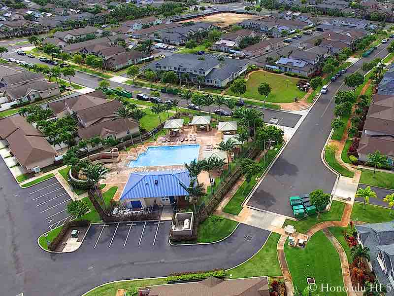 Spinnaker Condo Pool Aerial Photo