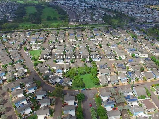 Ewa Gentry Alii Court and Alii Cove Homes - Aerial Photo